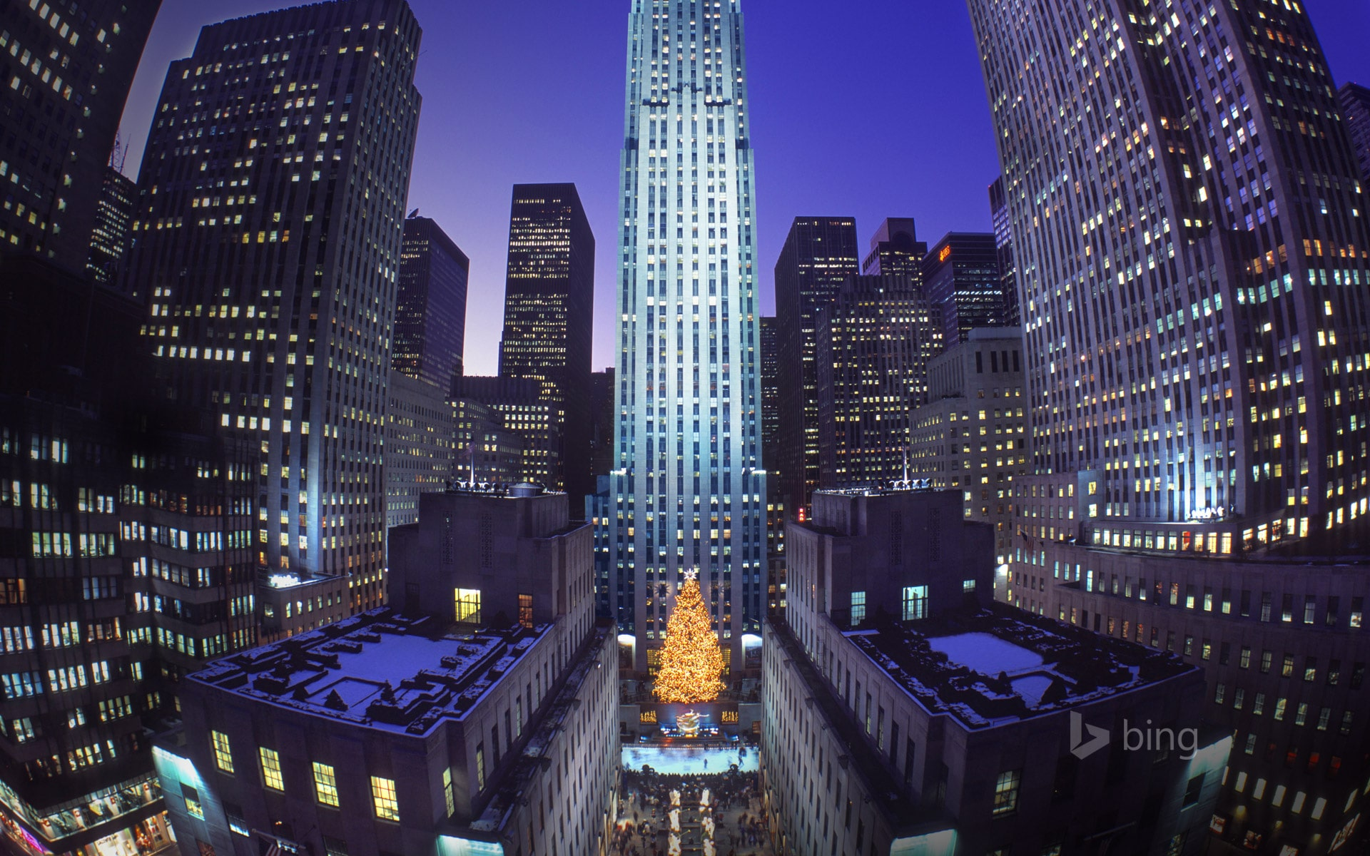 Top of the rock rockefeller center for Christmas trips to new york