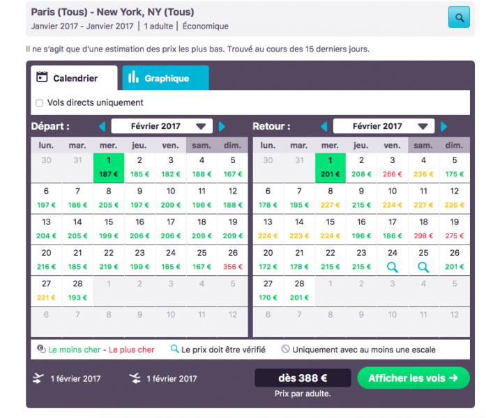 Billets New York avec Skyscanner