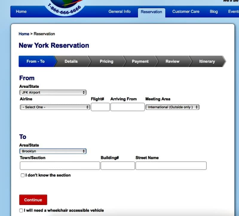Carmel Limo transfert privé New York